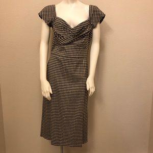 Stop Staring Vintage look gingham midi dress XL